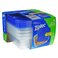 Ziploc Containers & Lids, Small Square