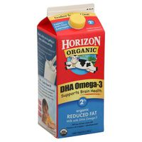 Horizon Organic 2% Reduced Fat DHA Omega-3 Milk
