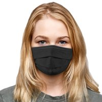 3-Ply Black Protective Face Mask - 5 count