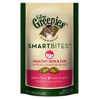 Greenies Smartbites Skin & Fur Health Salmon Flavor Cat Treats