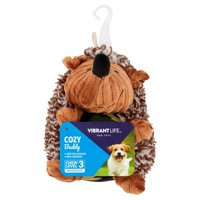 Vibrant Life Cozy Buddy Small Hedgehog Dog Toy, Color May Vary, Chew Level 2