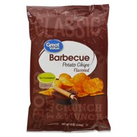 Great Value Barbeque Potato Chips, 8 Oz.