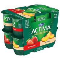 Activia Probiotic Blended Lowfat Yogurt Peach & Strawberry