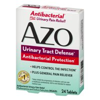 AZO Urinary Tract Defense, Antibacterial Protection & UTI Pain Relief, 24 ct
