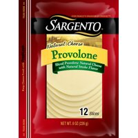 Sargento® Sliced Provolone Natural Cheese with Natural Smoke Flavor, 12 slices