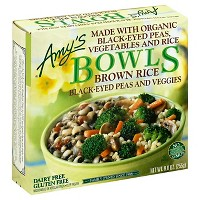Amy's Brown Rice Black-Eyed Peas and Veggies Frozen Bowls - 9oz