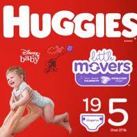 HUGGIES Little Movers Diapers, Size 5, 19 Count
