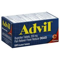 Advil Coated Tablets Pain Ibuprofen 200mg Reliever/Fever Reducer