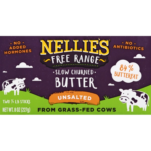 Nellies Butter, Unsalted, Slow Churned