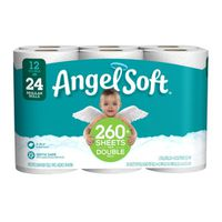 Angel Soft Toilet Paper, Base. 12 Double Rolls