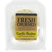Chef Shamy Fresh Churned Garlic Butter with Parmesan and Basil - 3oz