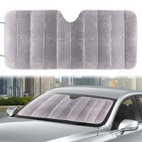 """Auto Drive Silver Reflective Accordion Sun Shade Product Size 63"""" x 28.5"""", Universal Fit"""