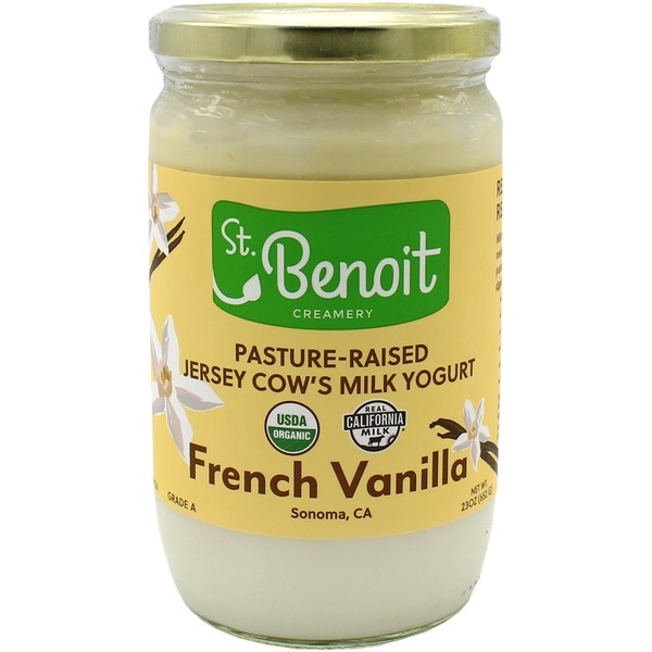Saint Benoit Creamery French Vanilla Yogurt From Pasture-raised