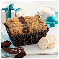 Mrs. Fields Basket Of Gratitude With 36 Nibblers And 4 Hand Frosted Cookies