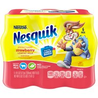 NESQUIK Low Fat Strawberry Milk, fl oz, 6 Count