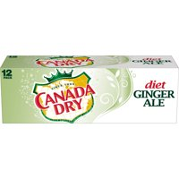 Diet Canada Dry Ginger Ale, 12 fl oz cans, 12 pack