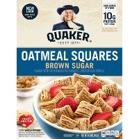 Oatmeal Squares Brown Sugar Breakfast Cereal - 14.5oz - Quaker Oats
