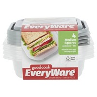 GoodCook EveryWare Square 2.9 Cups Food Storage Container - 4pk