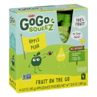 GoGo squeeZ Applesauce Pear 3.2oz 4PK