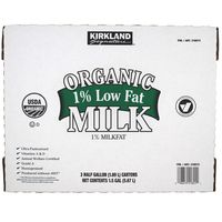 Kirkland Signature Organic 1% Low Fat Milk, 3 x 64 oz