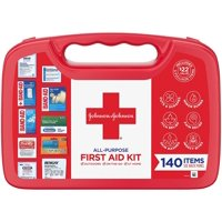 Johnson & Johnson All-Purpose Portable Compact First Aid Kit, 140 pc