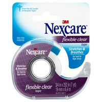 Nexcare Hospital Tape, Flexible Clear