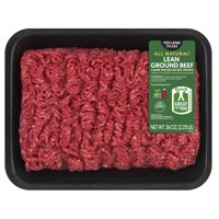 All Natural* 93% Lean/7% Fat Lean Ground Beef Tray, 2.25 lb