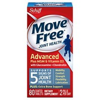 Move Free Advanced Plus MSM and Vitamin D3 Tablets - 80ct