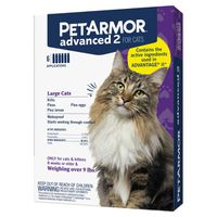 PetArmor Advanced 2 For Cats 9+ lbs, 6 Month Supply