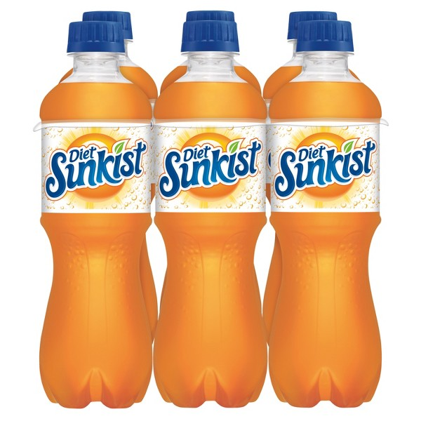 Diet Sunkist Orange Soda - 6pk/0.5 L Bottles