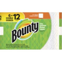 Bounty Paper Towels Double Rolls