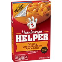 Hamburger Helper Pasta & Cheesy Sauce Mix, Rich & Creamy, Deluxe Cheeseburger Macaroni