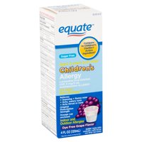 Equate Children's Allergy Oral Solution, Grape, 4 fl oz