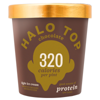 Halo Top Chocolate Light Ice Cream Pint , 16 fl oz
