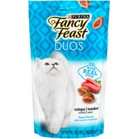 Fancy Feast Cat Treats, Duos Tuna Flavor With Accents of Parsley - 2.1 oz. Pouch