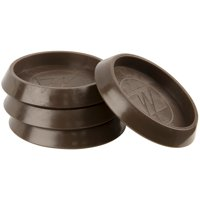 """1 3/4"""" Round Furniture Caster Cup Vinyl for Carpet Brown, 4 Pack"""