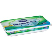 Great Value Wet Mopping Cloths, 12 Count