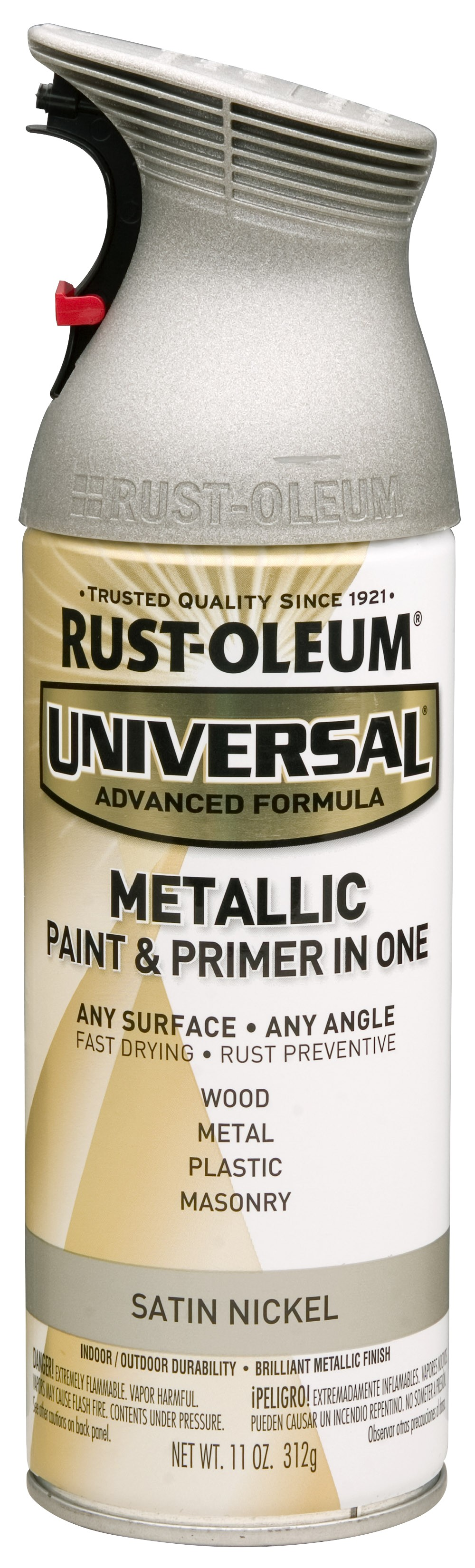 (3 Pack) Rust-Oleum Universal All Surface Metallic Satin Nickel Spray Paint and Primer in 1, 11 oz