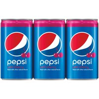 Pepsi Wild Cherry Flavored Soda, 7.5 fl oz, 6 pack