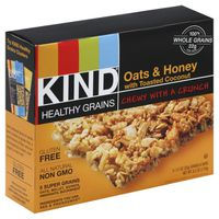 Kind Granola Bars, Oats & Honey, with Toasted Coconut