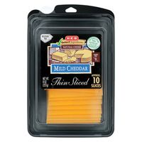 H-E-B Thin Sliced Natural Cheese Mild Cheddar