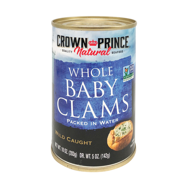 Crown prince natural Boiled Baby Clams, 10 oz