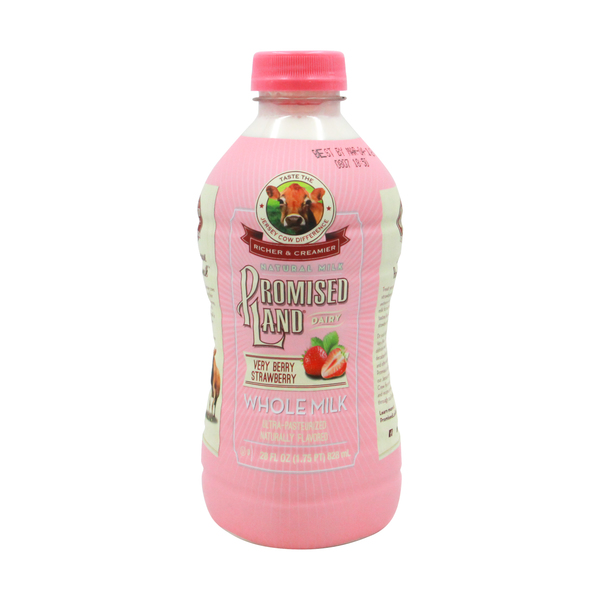Promise land dairy Very Berry Strawberry Whole Milk, 28 fl oz
