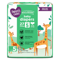 Parent's Choice Dry and Gentle Baby Diapers, Size 5, 27 Count