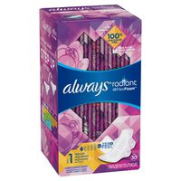 Always Radiant Regular Sanitary Pads With Wings