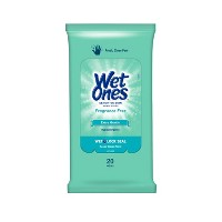 Wet Ones Sensitive Skin Hand Wipes Travel Pack - Fragrance Free - 20ct