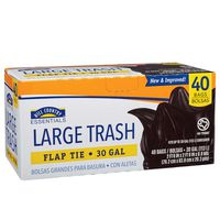 Hill Country Fare Large Flap Tie Trash Bags