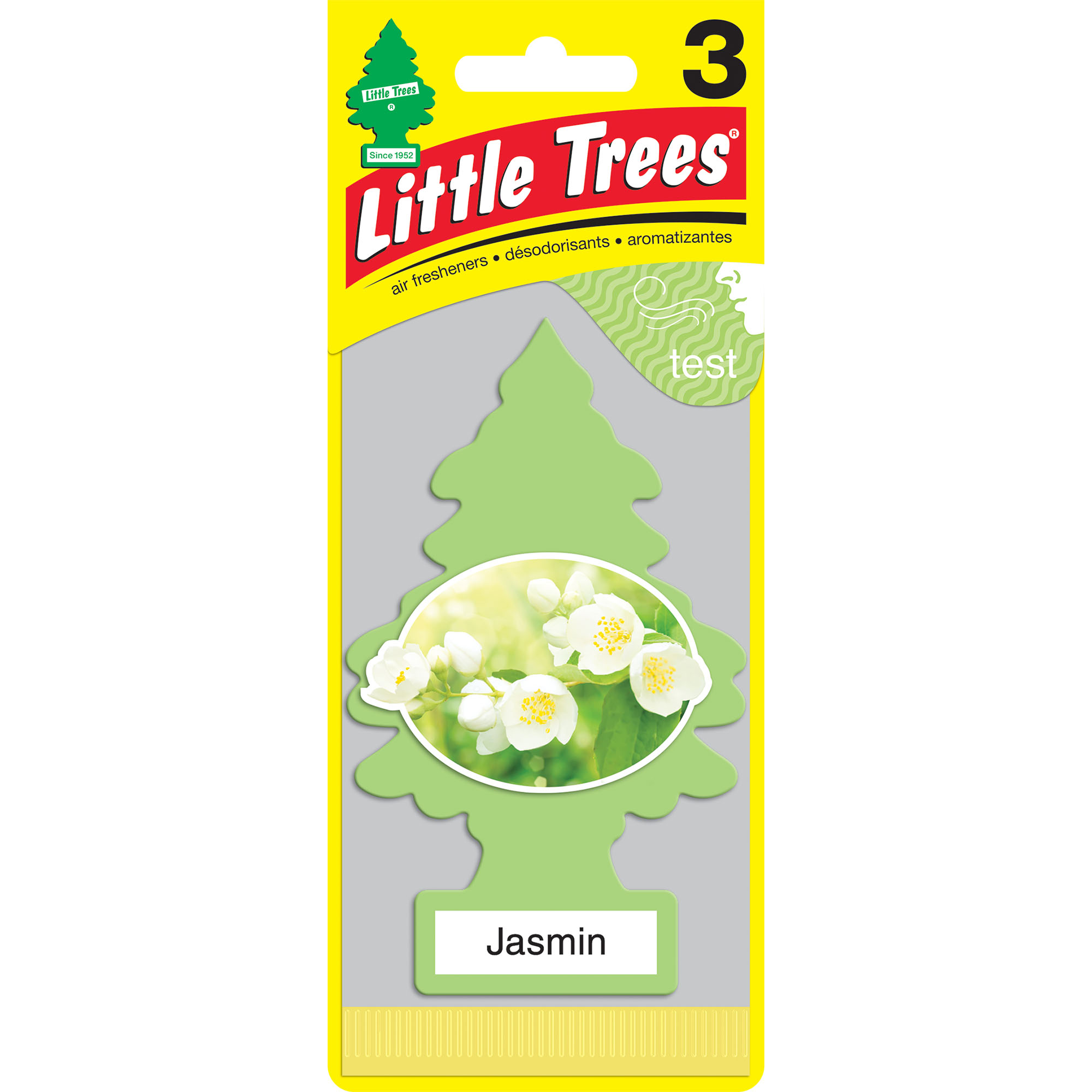 Little Trees Air Freshener Jasmin Fragrance 3-Pack