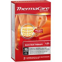 ThermaCare Lower Back & Hip Pain Therapy Heatwraps, L-XL