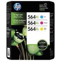 HP 564XL High Yield Color Combo Ink Cartridges, 3 ct